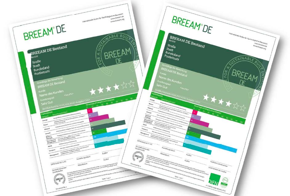 BREEAM DE Zertifikat