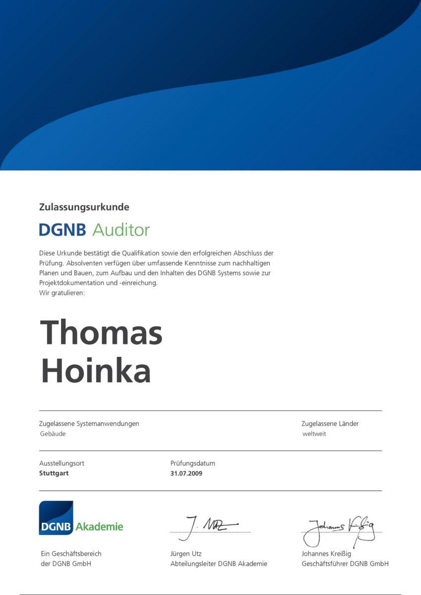 DGNB Auditor