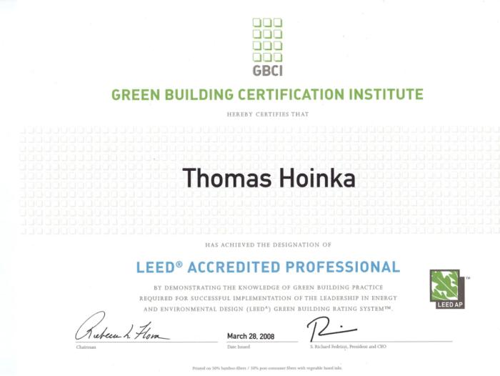 LEED_AP_Accredited_Professional_Thomas_Hoinka